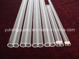 Round/Oval Twin Shape Custom-Made Transparent Quartz Tube for Lamp/Lighting Used