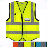 Security Protection High Visibility Yellow Reflective Safety Vest