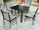 Aluminum with Powder Coating Dining Table and Chair with Textilene