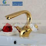 Double Handle Golden Basin Faucet