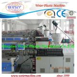 High Output WPC PE Floor Kiosk Handrail Profile Extrusion Line with on Line Embosser