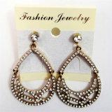 New Item Glass Stones Oval Shape Fashion Jewellery Earrings