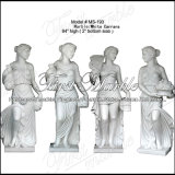 Top Quality White Carrara Sculpture for Home Decoration Ms-193