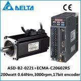 Delta B2 200W 17bit Encoder AC Servo Motor and Driver