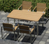 Outdoor Dining Table with Square Design Chairs