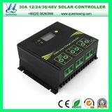 LCD 12V/24V/36V/48V 30A Solar Power System Charge Controller (QWSR-LG4830)