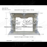 White Carrara Sculpture Fireplace for Decoration Mfp-266