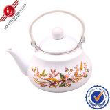 2.5L Black Stainless Steel Handle Teapot / Africa Hot Sale Enamel Water Kettle/ Floral Decal Water Jug