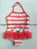 Lovely Strip One Piece Swimwear for Baby Girl/Baby, Kids Swimsuit