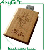 Wooden USB with Customized Logo and Shape 24