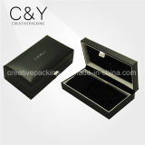 Black Customized Leather Jewelry Necklace Box