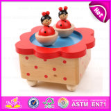 2015 Christmas Decoration Wooden Carousel Music Box, Colorful Wooden Music Box, Cheap Wooden Toy Music Box Wholesale W07b001