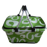 Outdoor Picnic Basket Beach Basket with Cooler Insulation