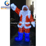 Outdoor Using Waterproof Santa Claus Lighting for Christmas Decoration
