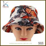 Custom Butterfly Printed Summer Hat Beach Bucket Cap