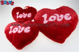 Plush Stuffed Red Heart Shape Cushion Soft Pillow Toy as Valentine′s Day Gift