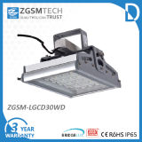 30W Toughed Glass IP65 LED High Bay Light Fixture
