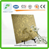 1.5mm-6mm Rich Yellow Tinted Decorative Mirror