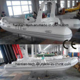 CE Fiberglass Hull Inflatable Rescue Boat for 6p (RIB360)