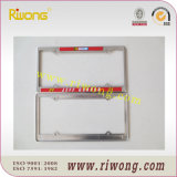 Chrome License Plate Frames with Customized Text