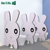 Pink Rabbit Lovely Kid Style Toilet Cubicle Partition