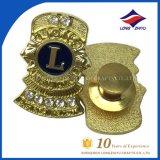 Custom 3D Metal Gold Badge Lions Club Badge Souvenir Badge