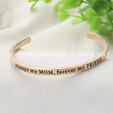 Fashion Stainless Steel Classic Bracelet Personalized Engraved Cuff Bangle
