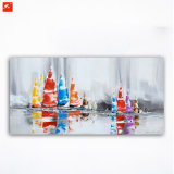 Abstract Handmade Canvas Painting for Sailing Race