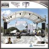 Aluminum Curve Roof Trussing Stage Lighting Truss Structure