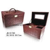 Elegant PU Leather Beauty Jewelry Box Case