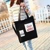 New Style Fashion Promotional Cotton Ladies Shoe Tote Handbag