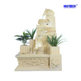 Sandstone Sculpture Square Garden Home Decoration LED Water Fountain