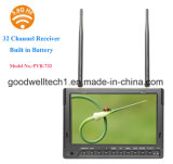 Built in DVR and 32 Channel Dual Receiver 7 Inch Camera Monitor