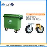 Rubber Waste Bin Caster, Steel Rim