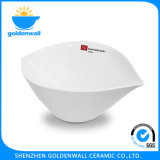 Customized Logo White Porcelain Portable Soup Bowl