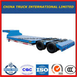 3 Axle 13 Meters Low Bed Flatbed Semitrailer with Good Price
