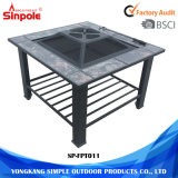 Professional Metal Square Outdoor BBQ Modern Fire Pit Table