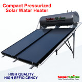 Solar Water Heater with Flate Plate Solar Panel and Stainless Steel High Pressurized Water Storage Tank