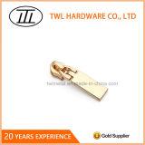 Light Gold Alloy Zipper Slider Replacement