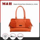 New Design Orange Tassels Genuine Leather Ladies Handbags