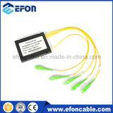Low Insertion FTTH Mini 1: 4 Cassette Optical Fiber PLC Splitter for Terminal