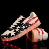 Hot Sale Flag Flat Shoes LED for Men &Women