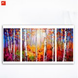 Slender Birch Tree Forests Wall Art Painting