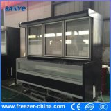 Cooling and Freezing Glass Door Combined Refrigerator