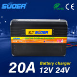 Suoer Portable Universal Battery Charger 12V 24V Battery Charger (SON-20A+)
