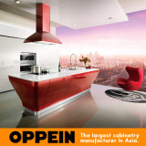 Guangzhou Manufacturer Oppein Smart Red Lacquer Kitchen Cabinet (OP12-L062)
