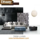 Modern Living Room Furniture L Shape Fabric Leather Sofa