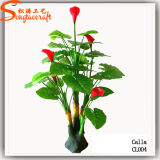 China Supplier Decorative Artificial Bonsai PU Calla Flower