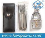 Yh9257 Transparent Padlock Practice Series #3 with 12PCS Locksmith Tools