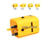 Global Travel Charger with USB Port for Promotional Gifts (HS-T107DU)